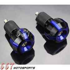 Universal Motorcycle 7/8 '' Handlebar Bar End Plugs Slider Grips For Yamaha Blue