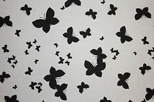 Black White Butterfly Print #2 100% Cotton Lawn Apparel Sewing Fabric BTY