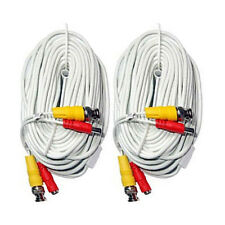 2 X 60 Feet CCTV Cable BNC Video and Power Premade Cable for  Security Camera