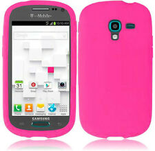 For Samsung Galaxy Exhibit T599 Rubber SILICONE Skin Case Phone Cover Hot Pink