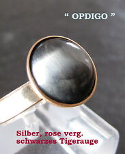 "Original Opdigo: Silberring mit  schwarzem Tigerauge    ""made in Germany"""