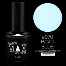 MAX 15ml Soak Off Gel Polish Nail Art UV LED Color #070 - Pastel Blue