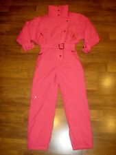 Vtg 80s 90s HEAD Pink MEDIUM LARGE neon Onesie SKI Snow Suit BIB Coat Snowsuit