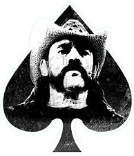 Lemmy of Motorhead contoured vinyl sticker 100mm x 45mm Ace of Spades
