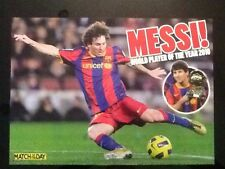 A3 Football action picture/poster MESSI, Barcelona WORLD PLAYER OF THE YEAR 2010