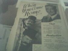 newspaper article 1947 - white cradle in production 2 page