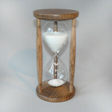Sand Glass Hourglass Sand timers Beech stained 60 Minutes 1 Hour