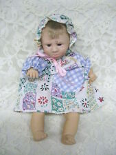 EXPRESSION GI-GO DOLL LITTLE POUTING GIRL IN DRESS AND BONNET
