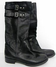 Nine West Women's Knee High Boots- Black Leather SIZE 9 M