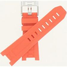 Hamilton 26mm Orange Rubber Khaki Navy Sub Auto Watch Band H600786105