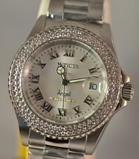 New Women's Invicta 19083 LE Angel Swiss Silver Dial Stainless Steel Watch