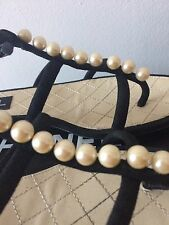 EXCLUSIVE CHANEL rare PEARL sandals Flats 37 Uk 4