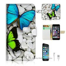 iPhone 6 Plus (5.5') Flip Wallet Case Cover! S8218 Butterfly