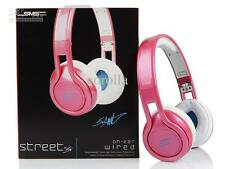 Genuine SMS Audio Street On-Ear Headphone  With Mic by 50 Cent Pink