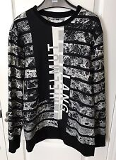NWT Helmut Lang All-over Print Sweatshirt Size M