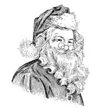 New Penny Black JOLLY ST NICHOLAS Wood Rubber Stamp Christmas Santa Claus Nick