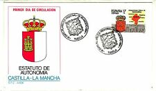 ESPAÑA SOBRE TEMÁTICO SFC 1984 ESTATUTO DE AUTONOMIA CASTILLA-LA MANCHA TUDELA