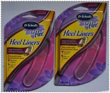 Dr Scholl's For Her HEEL LINERS GEL Cushion insoles 2 Pair Protects slipping rub
