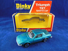 Scarce Dinky toys 211 Triumph TR7 Sports Car in Turquoise Mint & Original