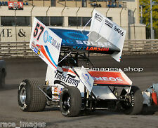 KYLE LARSON #57 WoO SPRINT CAR (2016 KNOXVILLE NATIONALS) 8x10 GLOSSY PHOTO #2