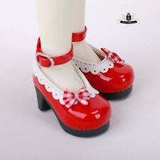 Yosd Shoes 1/6 BJD Shoes Tiny Lolita Red Shoes Dollfie DREAM Luts Dollmore AOD