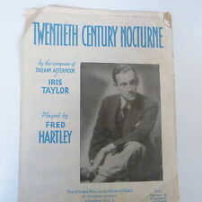 """piano solo TWNTIETH CENTURY NOCTURNE """"dreamy afternoon"""" Iris Taylor, Fred Hartle"""