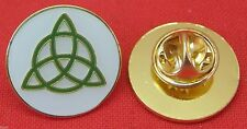 Celtic Knot Triangle Lapel Pin Badge Brooch Trinity Triquetra Celt