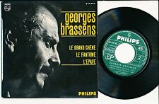 "GEORGES BRASSENS 45 TOURS EP 7"" FRANCE LE GRAND CHENE"