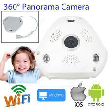 960P HD WIFI CCTV Home IP Panorama Wireless 360° Camera Support Micro SD Card