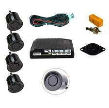 Black 4 Point Rear Reverse Parking Sensor Kit with Speaker - Volkswagen VW Golf