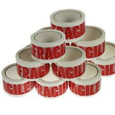 CHEAPEST 12 ROLLS FRAGILE PRINTED PACKAGING PARCEL TAPE 48mm x 66m 50mm