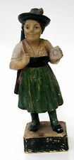Late 19th Early 20thc Chalkware Figure Lady Target Shooter