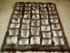 COPERTA plaid in PELLICCIA di marmotta fur blanket fourrure volpe felldecke piel