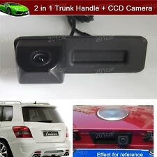 2 in 1 Car Trunk Handle + CCD Reverse Camera Parking For VW Skoda Octavia Fabia