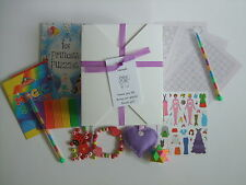 Girl's Filled Personalised Wedding Activity Box, Busy Bag - pack for children