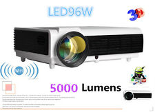 HD 3D LED 96 Wifi Projector LCD Smart Home Theater Beamer TV HDMI RJ45 LAN 1080P