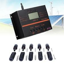 LCD 80A Solar Panel Battery Regulator Charge Controller + 5pair MC4 Connector UP