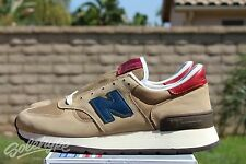 NEW BALANCE 990 SZ 10 DISTINCT MID CENTURY MODERN TAN NAVY BURGUNDY M990DAN