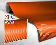 Orange carbon fiber car wrap vinyl VViViD XPO 100ft x 5ft cast film decal roll