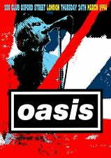 OASIS - CONCERT POSTER 100 CLUB LONDON THURSDAY 24th MARCH 1994 (A3 SIZE)