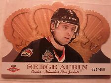 2000-01 Crown Royal SP Rookie 394/400 Serge Aubin RC Card 119