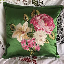 DESIGNERS GUILD FABRIC ROYAL COLLECTION EMERALD VERITY CUSHION COVER 43x43cm