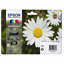 Epson Genuine T1806 18 4-Ink Multipack for Expression Home XP-212 (C13T18064010)