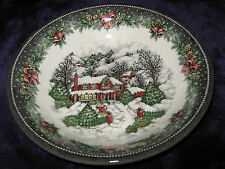 ROYAL STAFFORD CHRISTMAS COTTAGE CEREAL / SOUP BOWLS - 4 - NEW - MADE IN ENGLAND