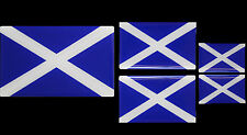 Scotland Scottish Flag Resin Domed Decal / Gel Sticker SET OF 5 Free P&P