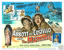 ABBOTT AND COSTELLO MEET THE MUMMY LOBBY TITLE CARD POSTER 1955
