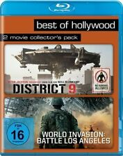 DISTRICT 9 + WORLD INVASION: BATTLE LOS ANGELES (2 Blu-ray Discs) NEU+OVP