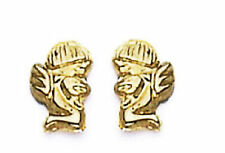 14k Gold Earrings Angel   Screw Back Lock  ON SALE THIS WEEK