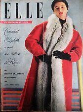 ELLE N° 0306 ELIZABETH LE METIER DE REINE VELOURS TOUJOURS MAGAZINE FEMININ 1951
