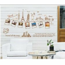 DIY Travel Memory Eiffel Tower photo frame Wall Sticker Decal Decor Removable